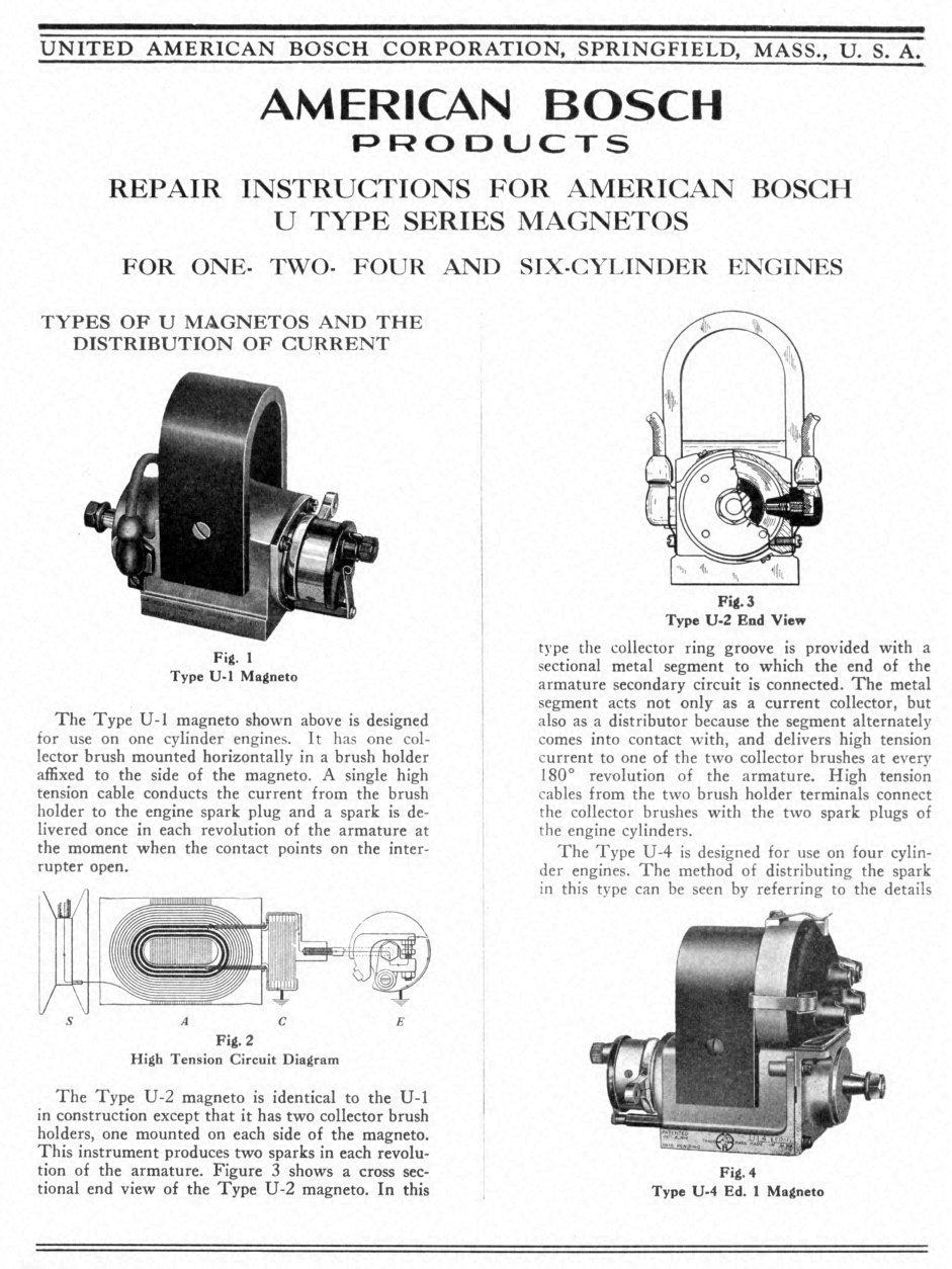 American Bosch Workshop Instructions